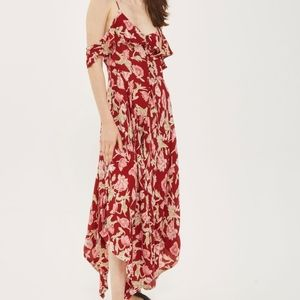 Topsham Asymmetrical Floral Maxi Dress Sz Petite 4
